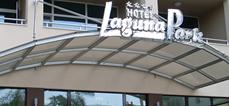 Козирка от неръждаема стомана и триплекс,х-л Лагуна Парк