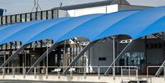 Тента от архитектурен текстил - летище Бургас
