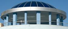 Купол от поликарбонат окантен с еталбод